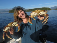 Fresh Crabs for the Boat to Tailgate Event Tofino
