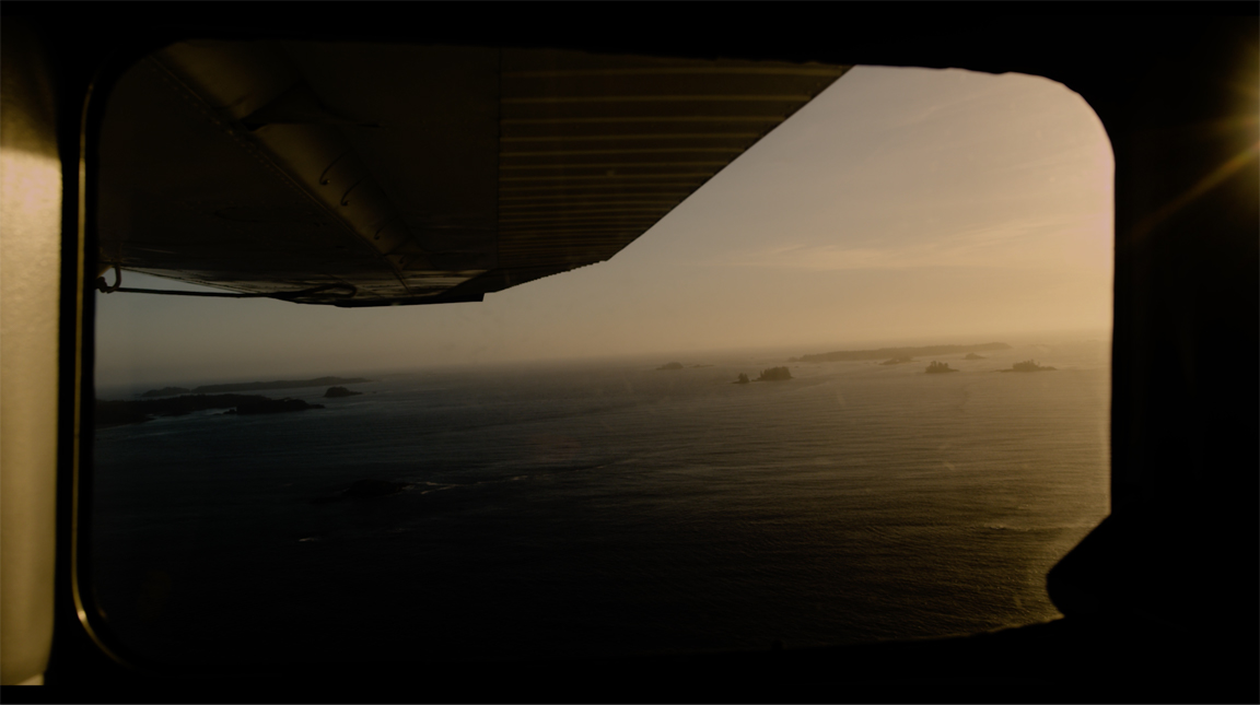The Pacific Ocean from a float plane window